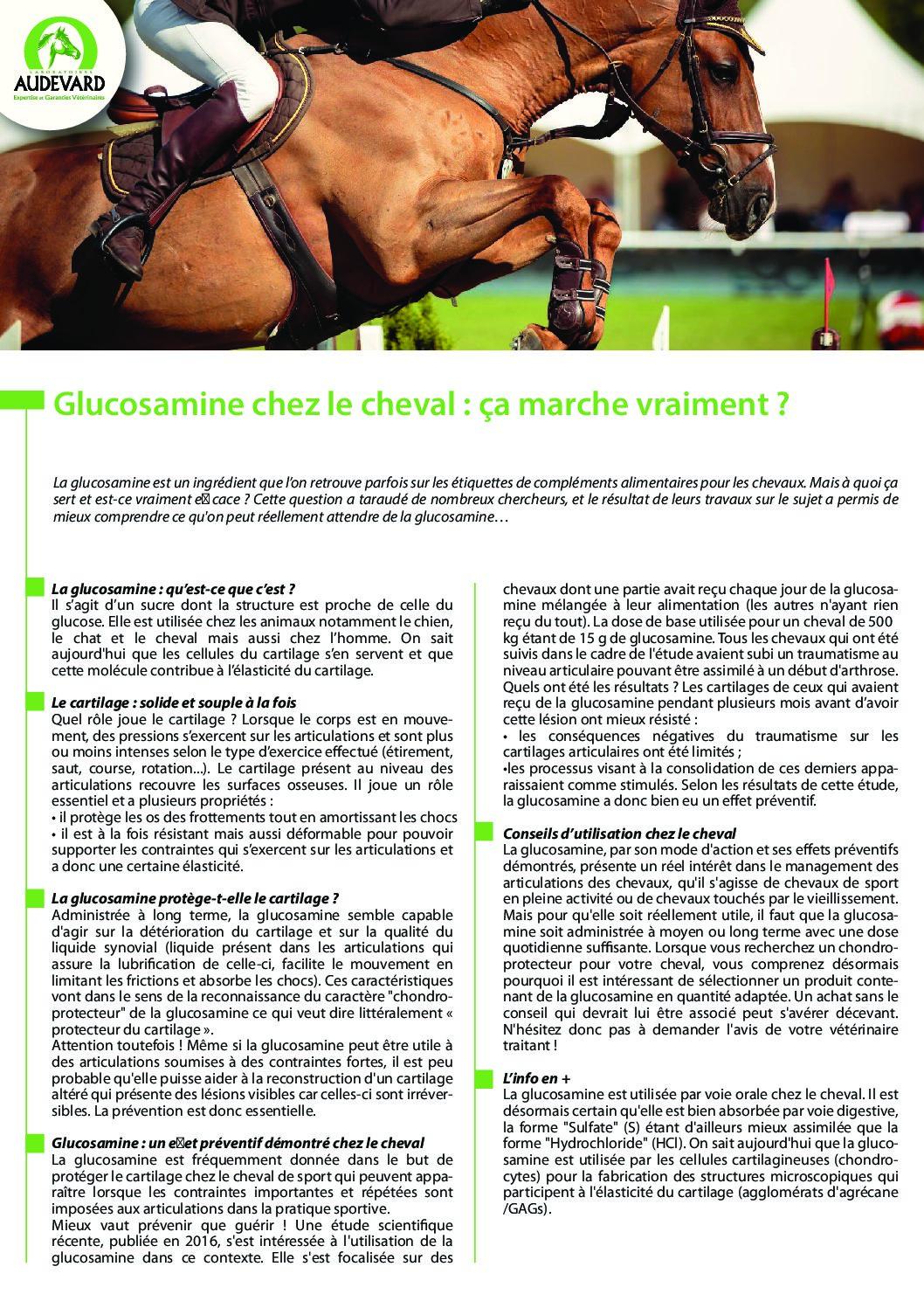 La glucosamine, à quoi ça sert?